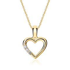 750er Gold Kette Herz mit Brillanten