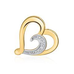 Anhänger Herz aus 14K Gold mit Diamant
