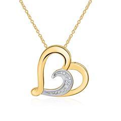 Optimal: Kette Herz 14k Gold Diamant Post