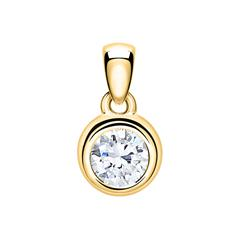 Mega: Anhänger 14-karätigem Gold Diamant