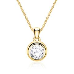 585er Goldkette für Damen mit Diamant