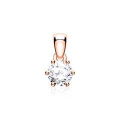 Diamantanhänger für Damen aus 585er Roségold