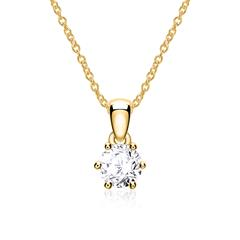 Mega: Halskette Damen 14k Gold Brillant Post
