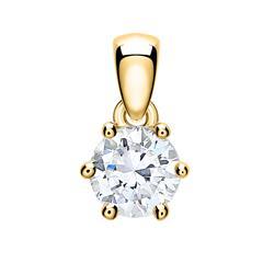 Anhänger für Damen aus 585er Gold mit Diamant