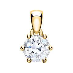 Anhänger für Damen aus 14K Gold mit Diamant