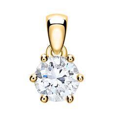 Kettenanhänger für Damen aus 14K Gold mit Diamant