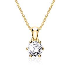 Kette Damen 14k Gold Diamant