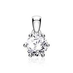 Diamantanhänger für Damen aus 585er Weißgold