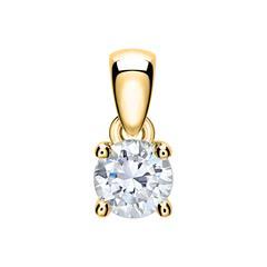 Damenanhänger aus 14-karätigem Gold mit Diamant