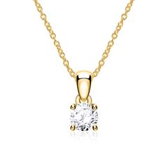 Ladies Necklace In 14 Carat Gold With Diamond