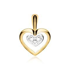 Herzanhänger für Damen aus 585er Gold mit Diamanten
