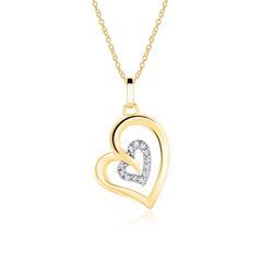 Herzkette 585er Gold Brillanten