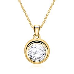 Kette mit Diamantanhänger aus 14-karätigem Gold
