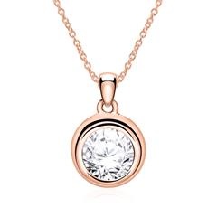 Ladies' Necklace In 585 Rose Gold With Brilliant-Cut Diamond