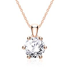 585 Rose Gold Ladies' Necklace With Diamond