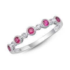 Magischer Ring Rubine Diamanten