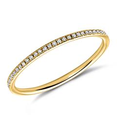 Gelbgoldener Diamantring 750er Gold Diamanten