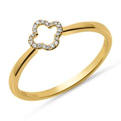 Diamantring 0,05 ct 750er Gelbgold