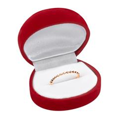 750er Rotgold Eternity Ring mit 13 Diamanten 0,07 ct.