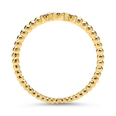750er Goldring Eternity mit 6 Diamanten 0,04 ct.