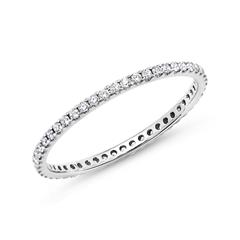 Eternity Ring 950er Platin 50 Diamanten