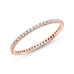 Eternity Ring 585er Roségold 50 Diamanten