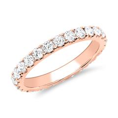 585er Roségold Eternity Ring 26 Brillanten