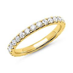 Memoire-Ring 750er Gold 29 Diamanten