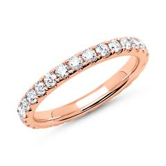 Memoire-Ring 750er Roségold 29 Diamanten