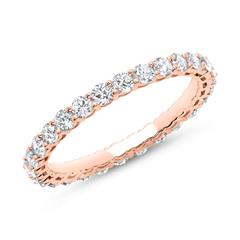 Eternity Ring 585er Roségold 28 Diamanten