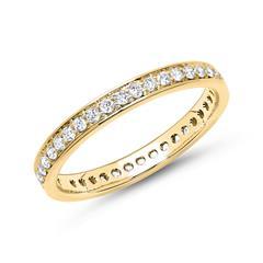 Eternity Ring 585er Gold 39 Diamanten
