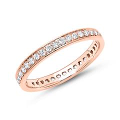 Eternity Ring 585er Roségold 39 Diamanten