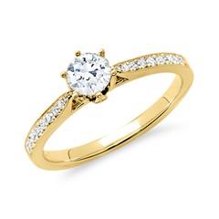 Ring 585er Gold für Diamanten