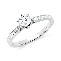 Ring 585er Weißgold für Diamanten