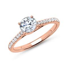 585er Roségold Diamantring