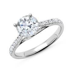 950er Platin Damenring mit Diamanten