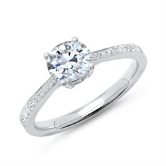 Verlobungsring 950er Platin mit Diamanten
