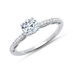 950er Platin Ring mit Diamantbesatz