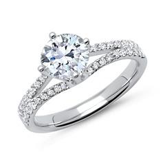 Ring 950er Platin mit Diamanten