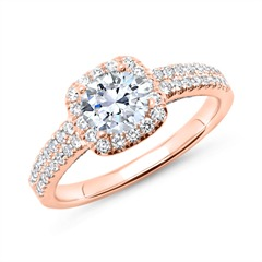 750er Roségold Ring mit Diamanten