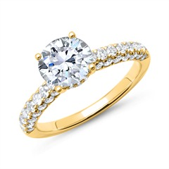 585er Gold Ring mit Brillanten