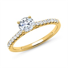 Ring 585er Gold mit Diamanten