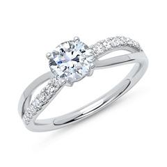 Ring 950 Platinum With Diamonds