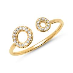 Ring Gelbgold 27 Diamanten 0,11ct.