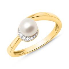 Ring 585er Gelbgold 5 Diamanten 0,0305 ct.