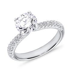 Ring 18 Karat Weißgold mit Diamanten