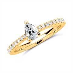 Ring 585er Gold mit Brillanten