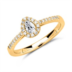 Ring 750er Gold mit Diamanten