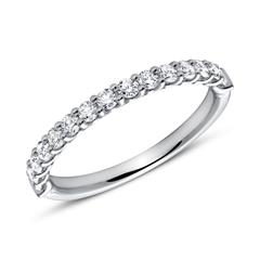950er Platin Eternity Ring 15 Diamanten