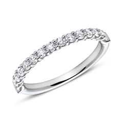 750er Weißgold Eternity Ring 15 Diamanten